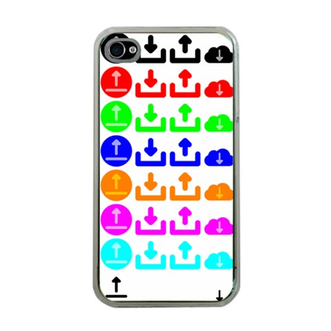 Download Upload Web Icon Internet Apple iPhone 4 Case (Clear)