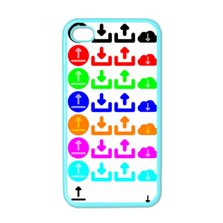 Download Upload Web Icon Internet Apple iPhone 4 Case (Color)