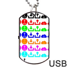 Download Upload Web Icon Internet Dog Tag USB Flash (One Side)