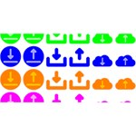 Download Upload Web Icon Internet PARTY 3D Greeting Card (8x4) Back