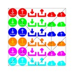 Download Upload Web Icon Internet Acrylic Tangram Puzzle (6  x 6 ) Front
