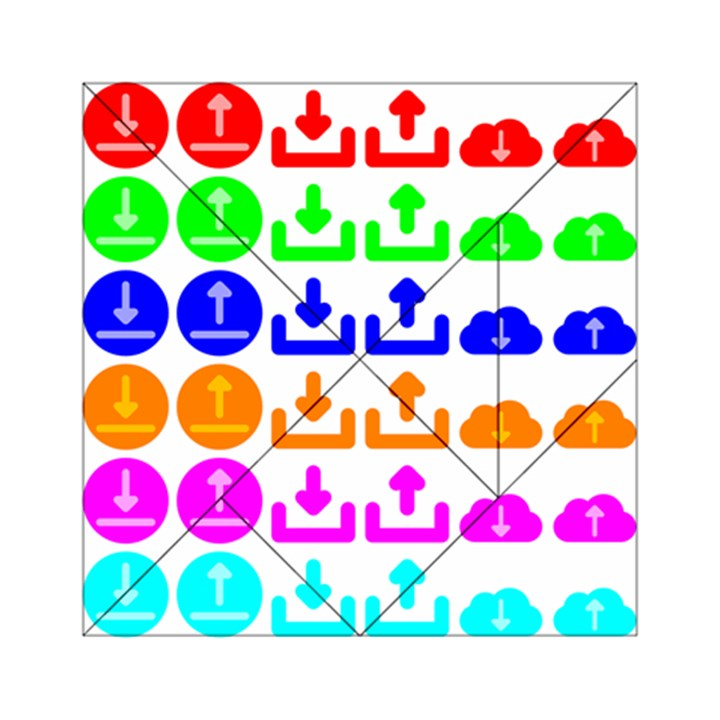 Download Upload Web Icon Internet Acrylic Tangram Puzzle (6  x 6 )