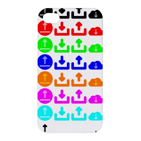 Download Upload Web Icon Internet Apple iPhone 4/4S Premium Hardshell Case