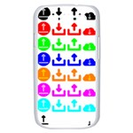Download Upload Web Icon Internet Samsung Galaxy S III Case (White) Front