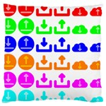 Download Upload Web Icon Internet Large Cushion Case (One Side) Front