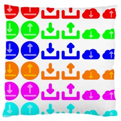 Download Upload Web Icon Internet Large Cushion Case (Two Sides)