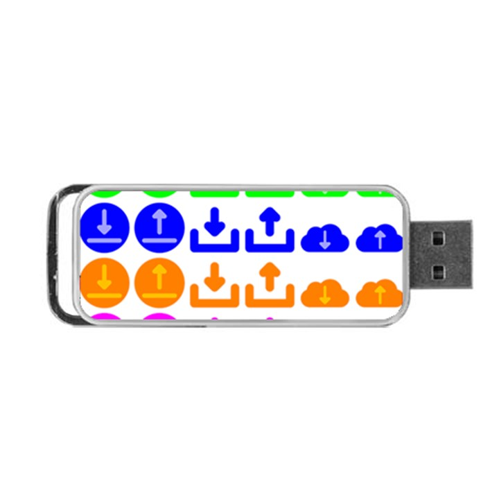 Download Upload Web Icon Internet Portable USB Flash (Two Sides)
