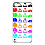 Download Upload Web Icon Internet Apple iPhone 5 Case (Silver) Front