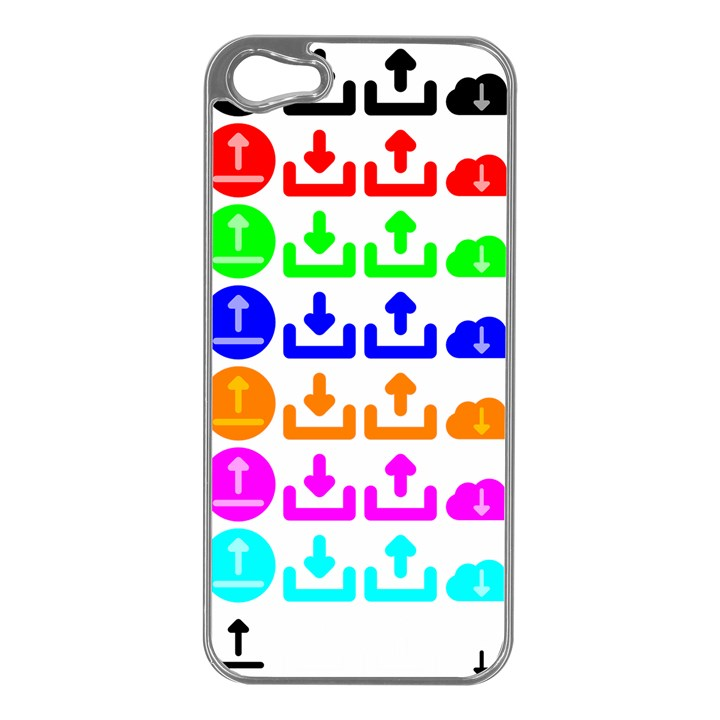 Download Upload Web Icon Internet Apple iPhone 5 Case (Silver)