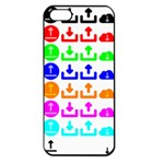 Download Upload Web Icon Internet Apple iPhone 5 Seamless Case (Black) Front
