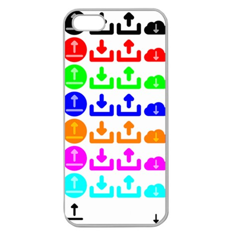 Download Upload Web Icon Internet Apple Seamless iPhone 5 Case (Clear)