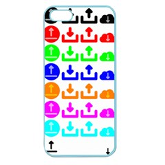 Download Upload Web Icon Internet Apple Seamless iPhone 5 Case (Color)