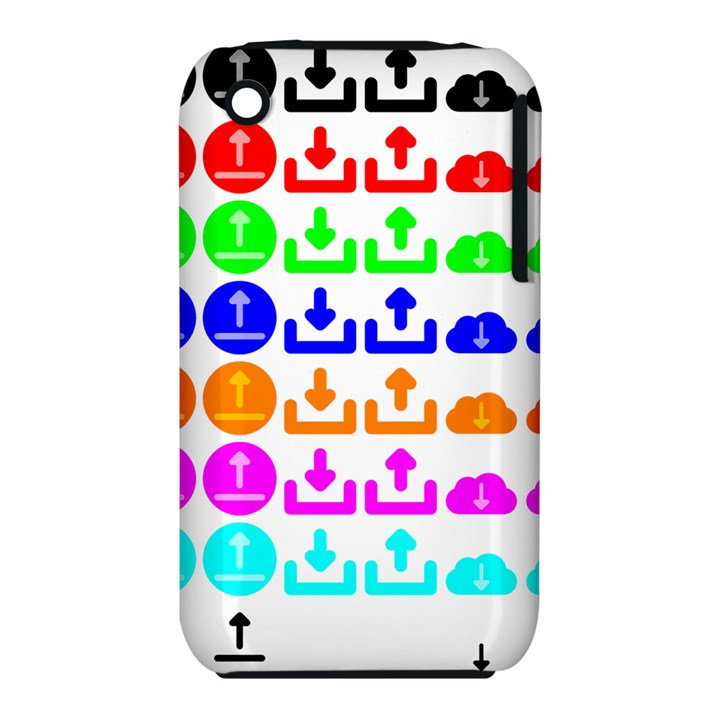 Download Upload Web Icon Internet Apple iPhone 3G/3GS Hardshell Case (PC+Silicone)