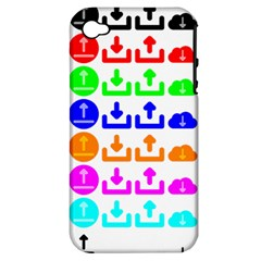 Download Upload Web Icon Internet Apple iPhone 4/4S Hardshell Case (PC+Silicone)