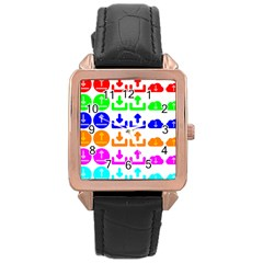 Download Upload Web Icon Internet Rose Gold Leather Watch