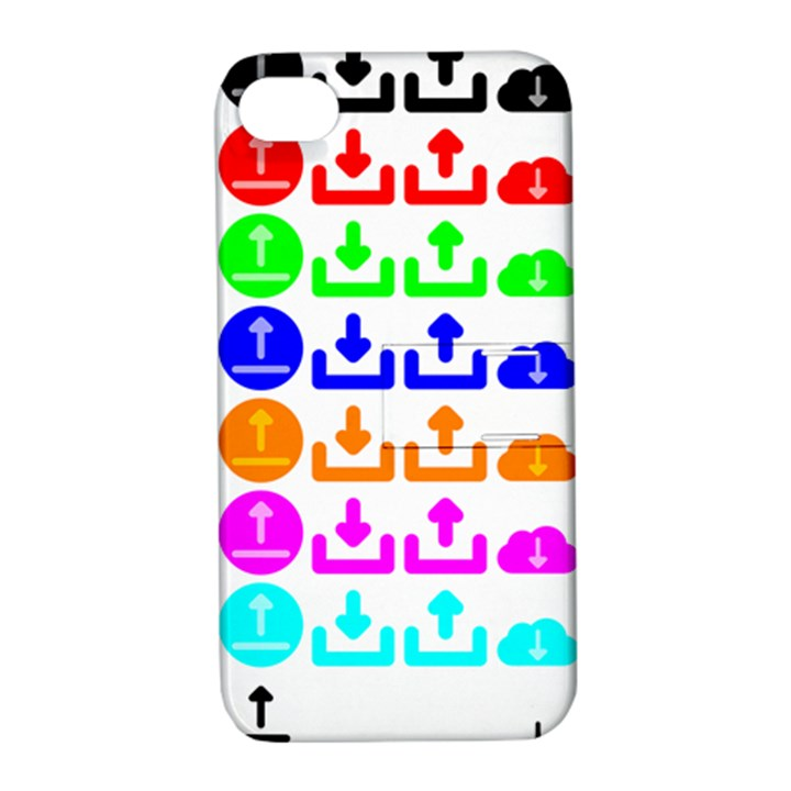 Download Upload Web Icon Internet Apple iPhone 4/4S Hardshell Case with Stand