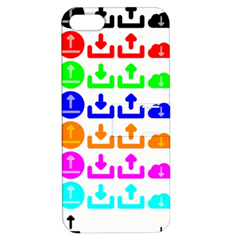 Download Upload Web Icon Internet Apple iPhone 5 Hardshell Case with Stand
