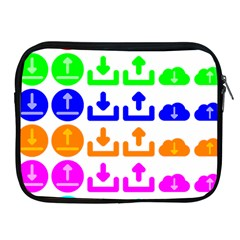Download Upload Web Icon Internet Apple iPad 2/3/4 Zipper Cases
