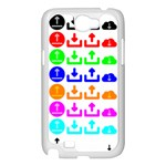 Download Upload Web Icon Internet Samsung Galaxy Note 2 Case (White) Front