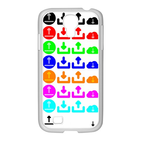 Download Upload Web Icon Internet Samsung GALAXY S4 I9500/ I9505 Case (White)