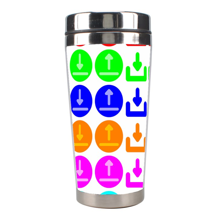 Download Upload Web Icon Internet Stainless Steel Travel Tumblers