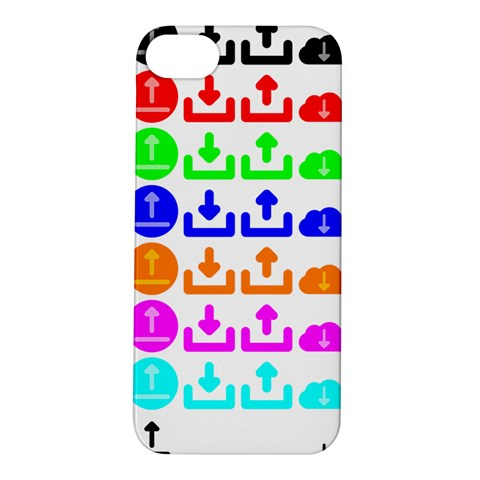 Download Upload Web Icon Internet Apple iPhone 5S/ SE Hardshell Case