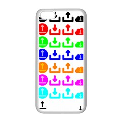 Download Upload Web Icon Internet Apple iPhone 5C Seamless Case (White)
