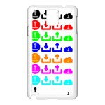 Download Upload Web Icon Internet Samsung Galaxy Note 3 N9005 Case (White) Front