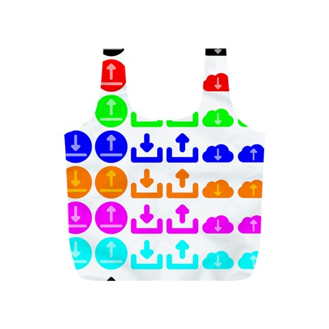 Download Upload Web Icon Internet Full Print Recycle Bags (S)