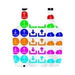 Download Upload Web Icon Internet Full Print Recycle Bags (M)  Front