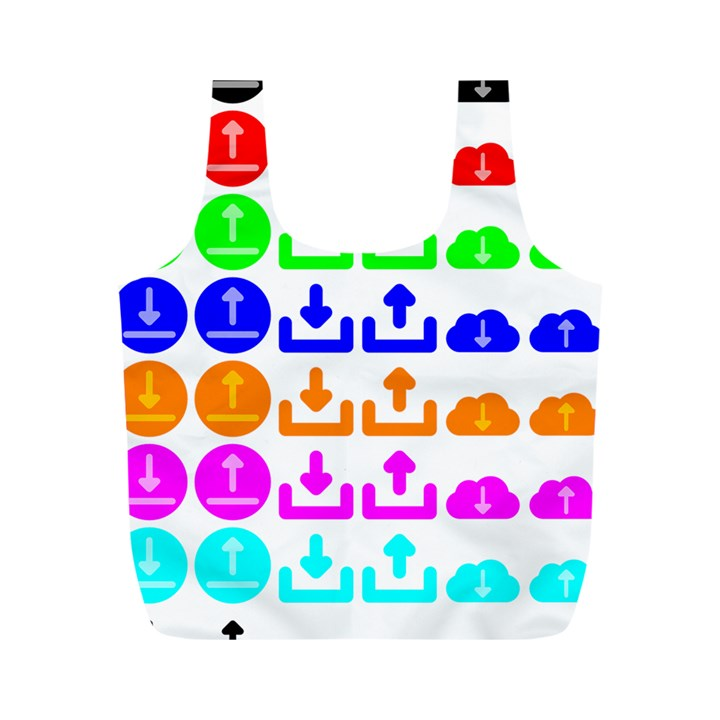 Download Upload Web Icon Internet Full Print Recycle Bags (M)