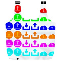 Download Upload Web Icon Internet Full Print Recycle Bags (L)