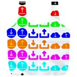 Download Upload Web Icon Internet Full Print Recycle Bags (L)  Front
