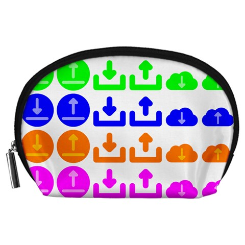 Download Upload Web Icon Internet Accessory Pouches (Large)