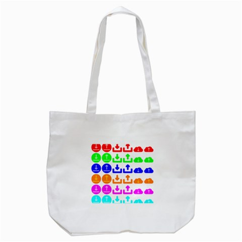 Download Upload Web Icon Internet Tote Bag (White)