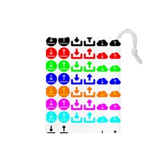Download Upload Web Icon Internet Drawstring Pouches (Small)