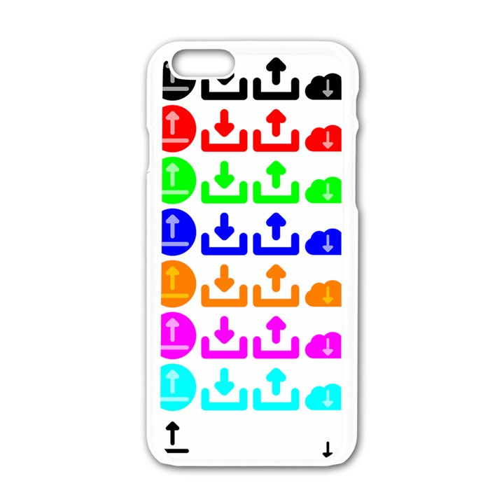 Download Upload Web Icon Internet Apple iPhone 6/6S White Enamel Case
