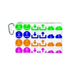 Download Upload Web Icon Internet Canvas Cosmetic Bag (S) Front