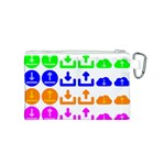 Download Upload Web Icon Internet Canvas Cosmetic Bag (S) Back