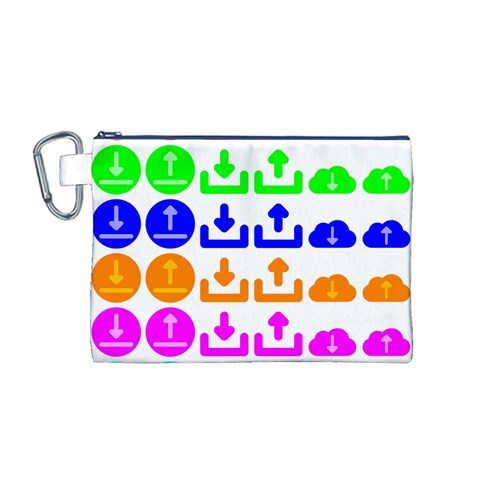 Download Upload Web Icon Internet Canvas Cosmetic Bag (M)