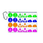Download Upload Web Icon Internet Canvas Cosmetic Bag (M) Front