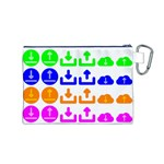 Download Upload Web Icon Internet Canvas Cosmetic Bag (M) Back