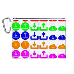 Download Upload Web Icon Internet Canvas Cosmetic Bag (L)