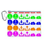 Download Upload Web Icon Internet Canvas Cosmetic Bag (L) Front