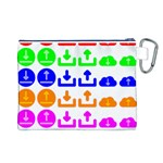 Download Upload Web Icon Internet Canvas Cosmetic Bag (L) Back