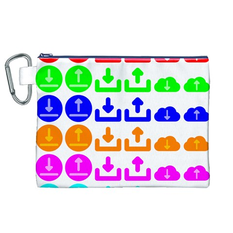 Download Upload Web Icon Internet Canvas Cosmetic Bag (XL)