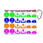 Download Upload Web Icon Internet Canvas Cosmetic Bag (XL) Back