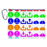 Download Upload Web Icon Internet Canvas Cosmetic Bag (XXL) Front