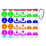 Download Upload Web Icon Internet Canvas Cosmetic Bag (XXL) Back