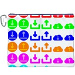 Download Upload Web Icon Internet Canvas Cosmetic Bag (XXXL) Front